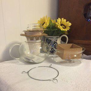 """Princess House Vintage Heritage 7"""" H Tea Pot / NIB"""
